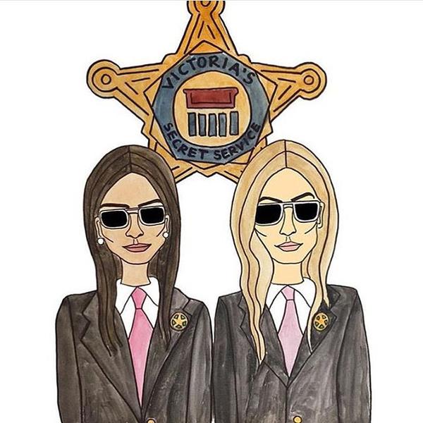Фото №1 - Подружки Кендалл и Джиджи дебютировали на шоу Victoria's Secret