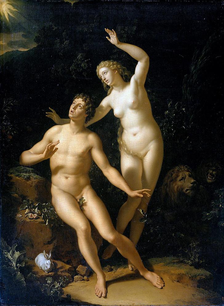 Фото №14 - Галерея: как изображали Адама и Еву последние  2000 лет