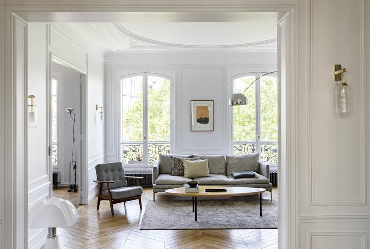 Фото №1 - Квартира с золотыми акцентами в Париже