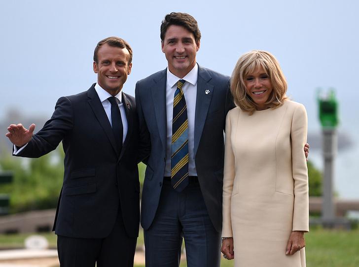 Фото №5 - Как чета Макрон встретила мировых лидеров на саммите G7