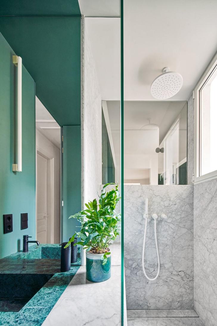 Фото №9 - Квартира с зеленой перегородкой в Барселоне