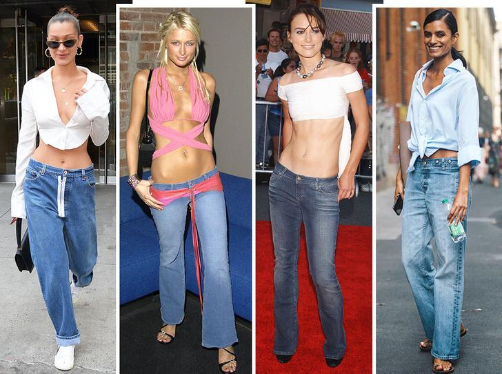 Фото №1 - Не ждали: почему джинсы с низкой талией снова в тренде (и как их носить)