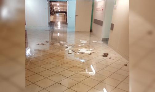 Фото №1 - Видео: В Петербурге затопило больницу им. Боткина, в которой лечатся пациенты с COVID-19