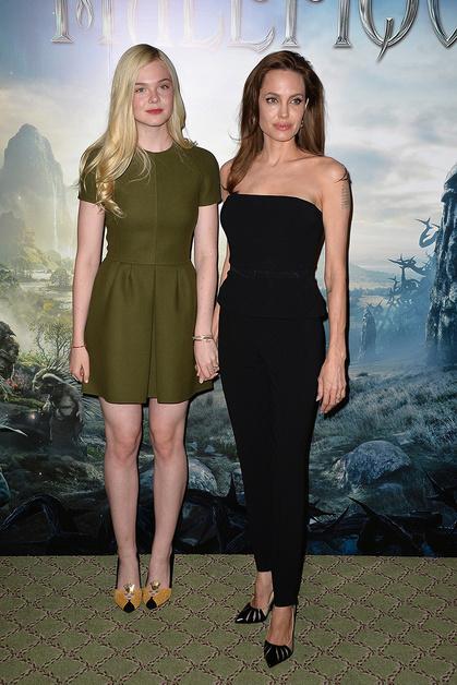 Эль Фэннинг (Elle Fanning), Анджелина Джоли (Angelina Jolie)