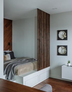 Фото №9 - Как уместить в однушке спальню, кабинет и гостиную: фото