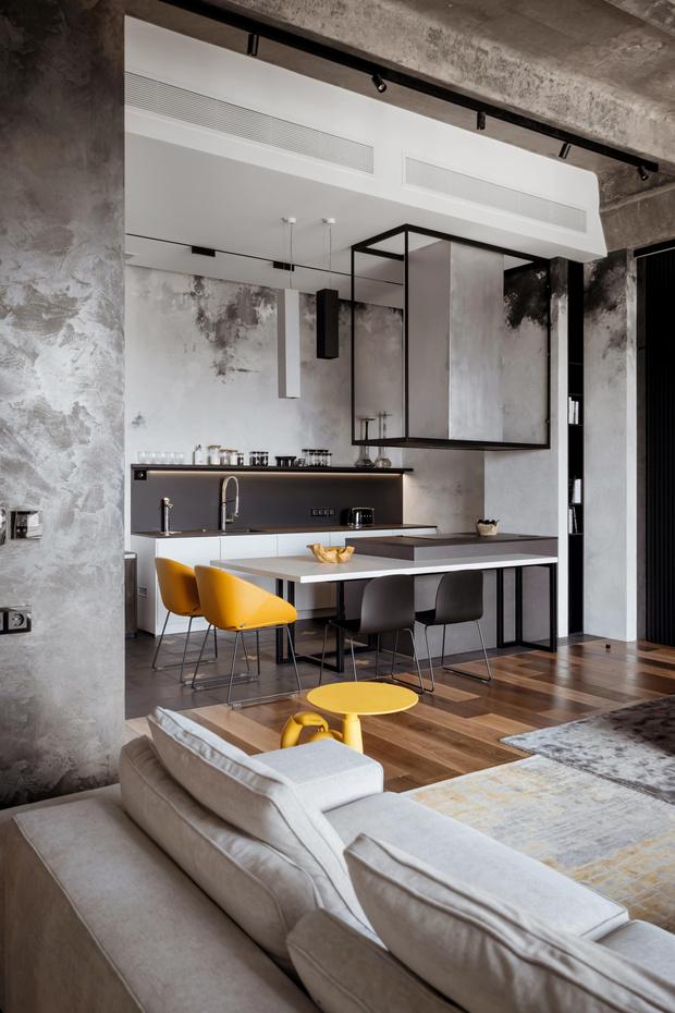 Фото №4 - Квартира 136 м² с бетонным потолком в Москве