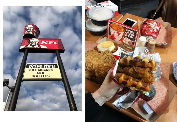Порции в американском КFC богатырские!