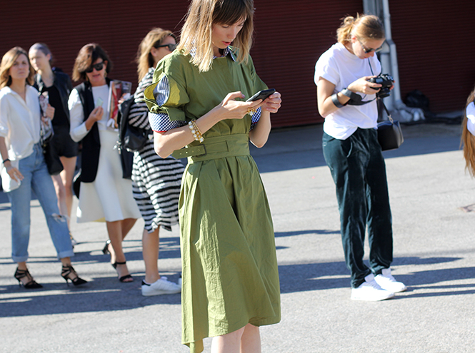 Фото №4 - Неделя моды в Нью-Йорке: streetstyle пятого дня