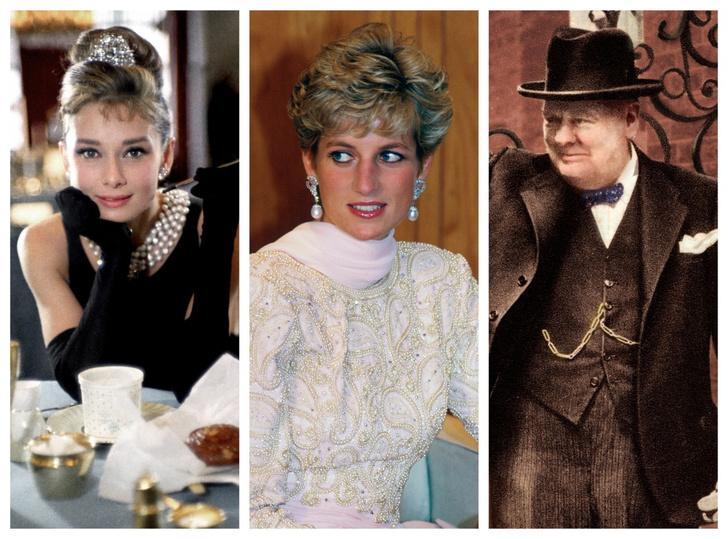 Фото №1 - От Одри Хэпберн до Уинстона Черчилля: знаменитые родственники принцессы Дианы