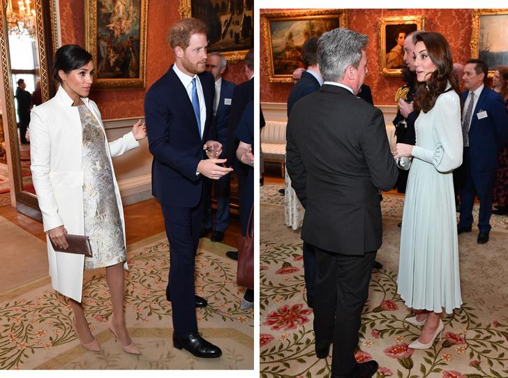 Фото №1 - Герцоги Кембриджские и Сассекские на приеме в Букингемском дворце