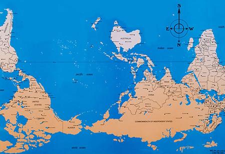 Как выглядят карты мира в учебниках других стран