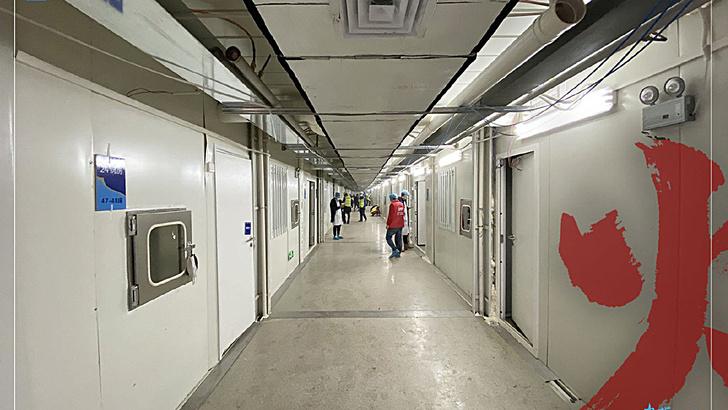 Фото №1 - Вот как выглядит изнутри больница для пациентов с коронавирусом, построенная в Китае за 10 дней (видео)