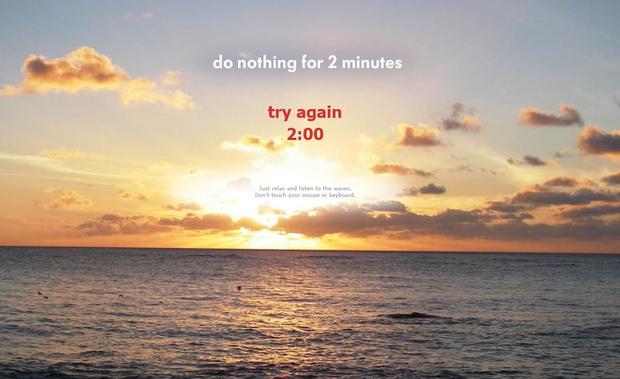 Фото №2 - Сайт дня: А ты сможешь ничего не делать две минуты?