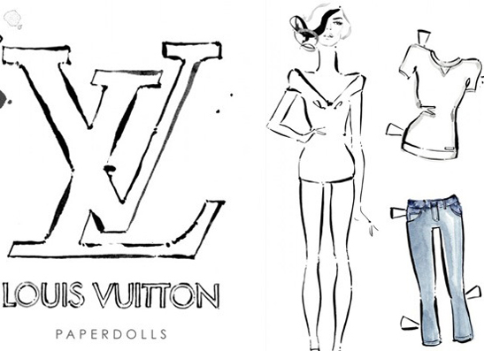 Фото №1 - Не наигрались: Louis Vuitton представил бумажные куклы