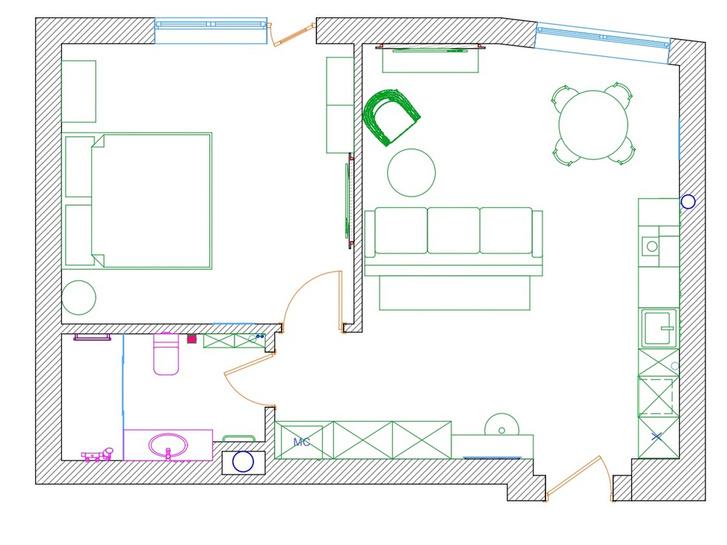 Фото №13 - Квартира 49 м² для отдыха в Светлогорске