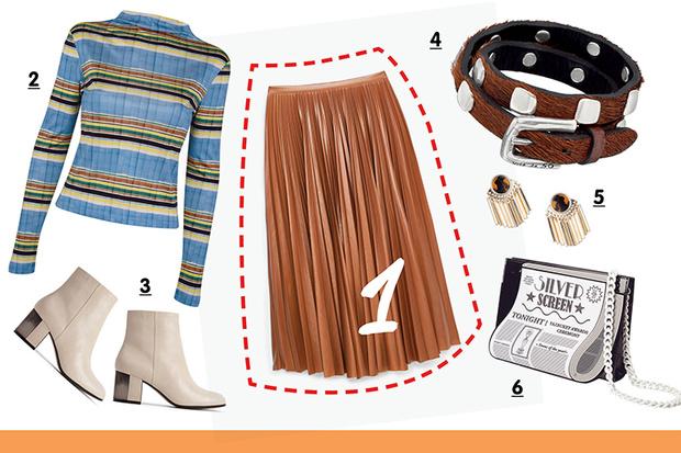 Фото №1 - С чем носить плиссированную юбку