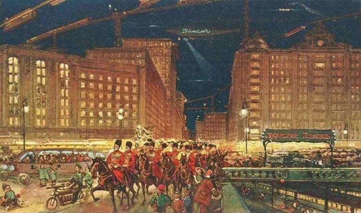 Фото №4 - Как представляли Москву будущего в 1914 году