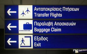 Пример использования пиктограмм Отто в аэропорту Афин