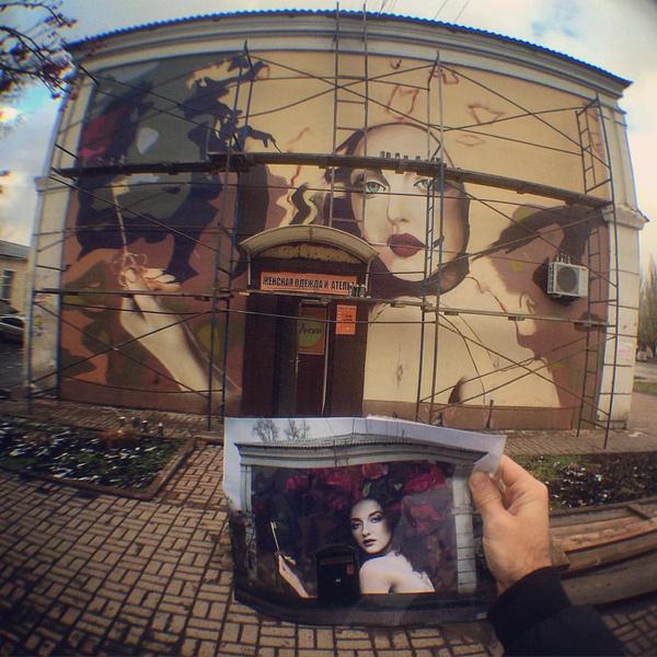 Фото №3 - Граффити-художники расписали фасад дома в Кемерово