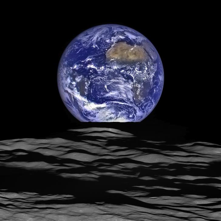 Фото №1 - Луна. Вид на Землю