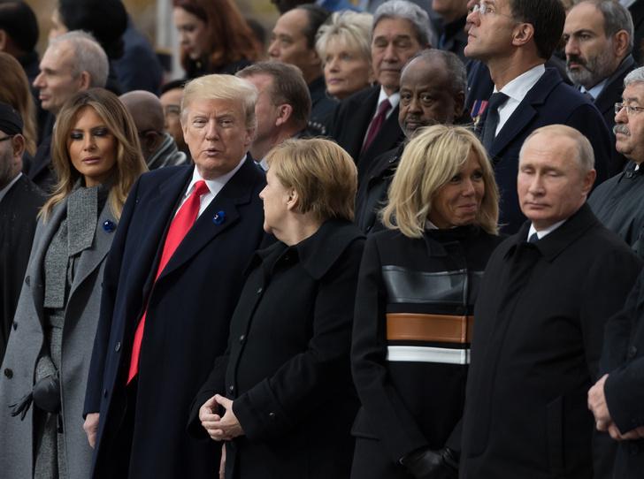 Фото №5 - 18 фотографий Брижит Макрон и Мелании Трамп, доказывающих, что их дружба – это серьезно