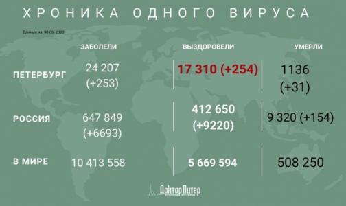 Фото №1 - Число заразившихся коронавирусом петербуржцев превысило 24 тысячи