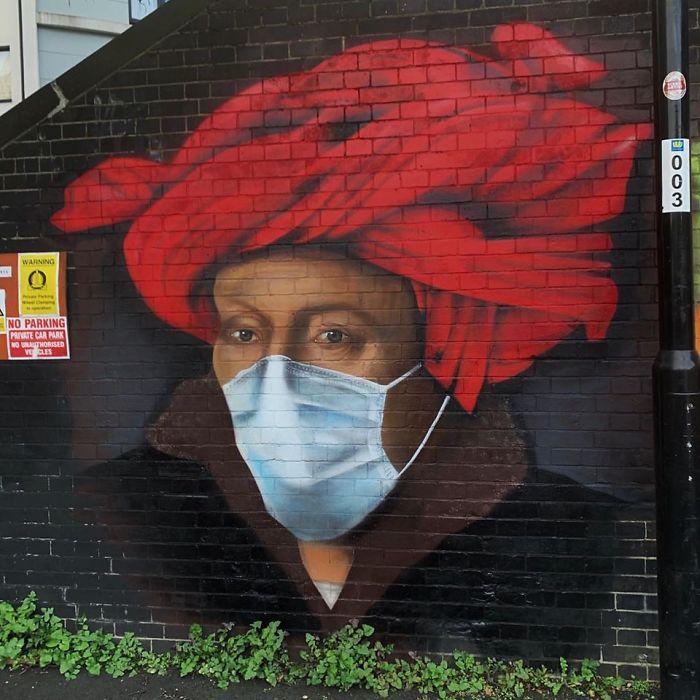 Фото №7 - 20 граффити со всего мира, навеянные коронавирусом