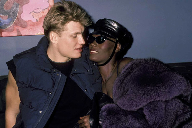 Дольф Лундгрен и Грейс Джонс, середина 1980-х