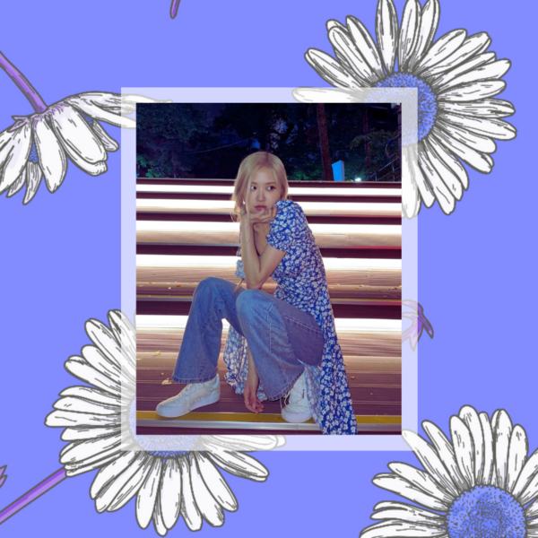 Фото №1 - Когда слегка похолодало, носи цветочное платье с джинсами, как Розэ из BLACKPINK