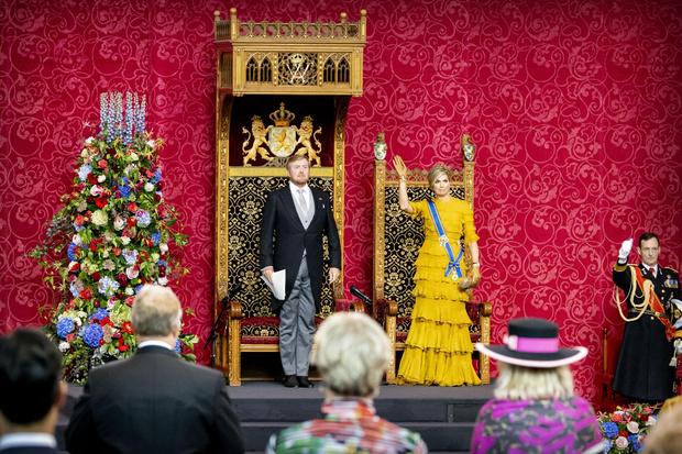 Фото №3 - Что особенного в платье Claes Iversen из гардероба нидерландской королевы Максимы и почему оно поменяло цвет?