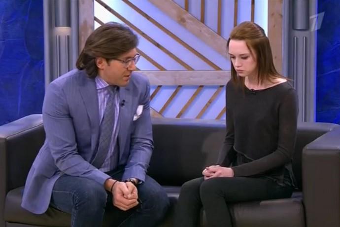 Диана Шурыгина в эфире программы «Пусть говорят».