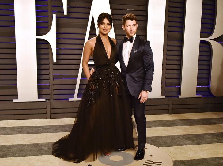 Фото №2 - Самые стильные звездные пары на вечеринке Vanity Fair-2019