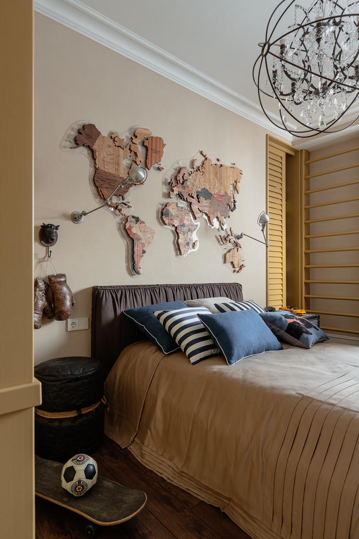 Фото №12 - Стена над изголовьем кровати: 10 идей декора