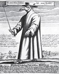 Фото №1 - Почему чумные врачи носили маску с длинным носом?