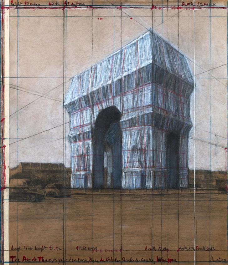 Эскиз для «Завернутой Триумфальной арки». 2018 г.