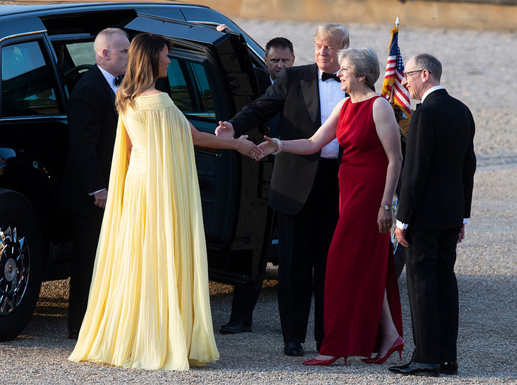 Фото №5 - Мелания Трамп «украла шоу» на гала-ужине в Бленхеймском дворце