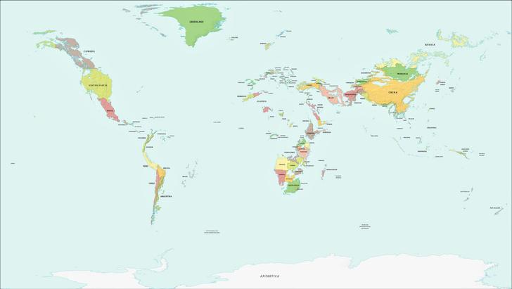 Фото №2 - Как будет выглядеть карта мира, если уровень воды поднимется и опустится на 1000 метров