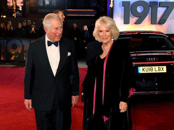 Фото №1 - Светский выход: Чарльз и Камилла на премьере фильма в Лондоне