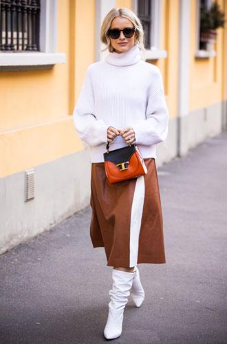 Фото №7 - С чем носить миди-юбки: 6 сочетаний, которые нужно попробовать