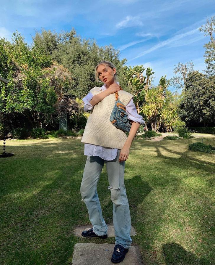 Фото №1 - Вязаный жилет— лучшая покупка сезона: доказывает Эльза Хоск