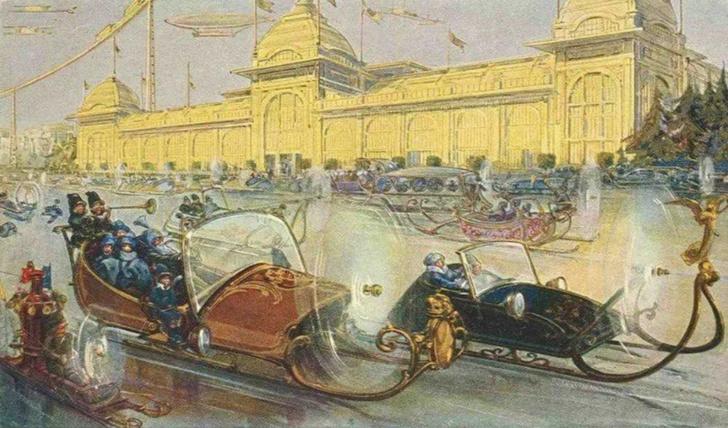 Фото №8 - Как представляли Москву будущего в 1914 году
