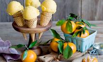 Домашнее мандариновое мороженое