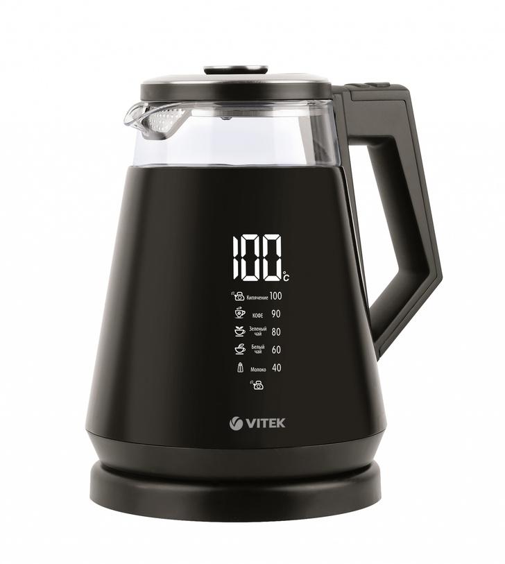 Фото №1 - Стильный чайник VT-7063 от VITEK