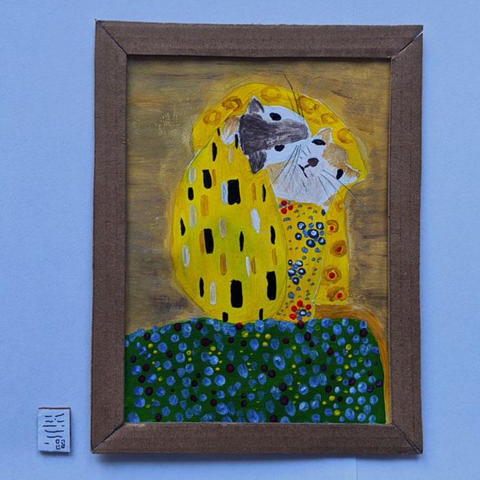 Фото №5 - Муж и жена на самоизоляции построили маленькую картинную галерею для своих мышей