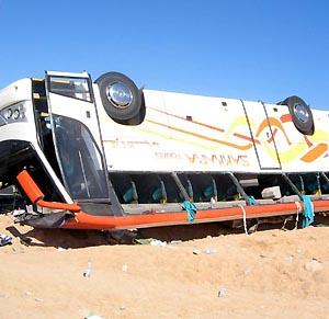 Фото №1 - Автобус с паломниками упал в пропасть