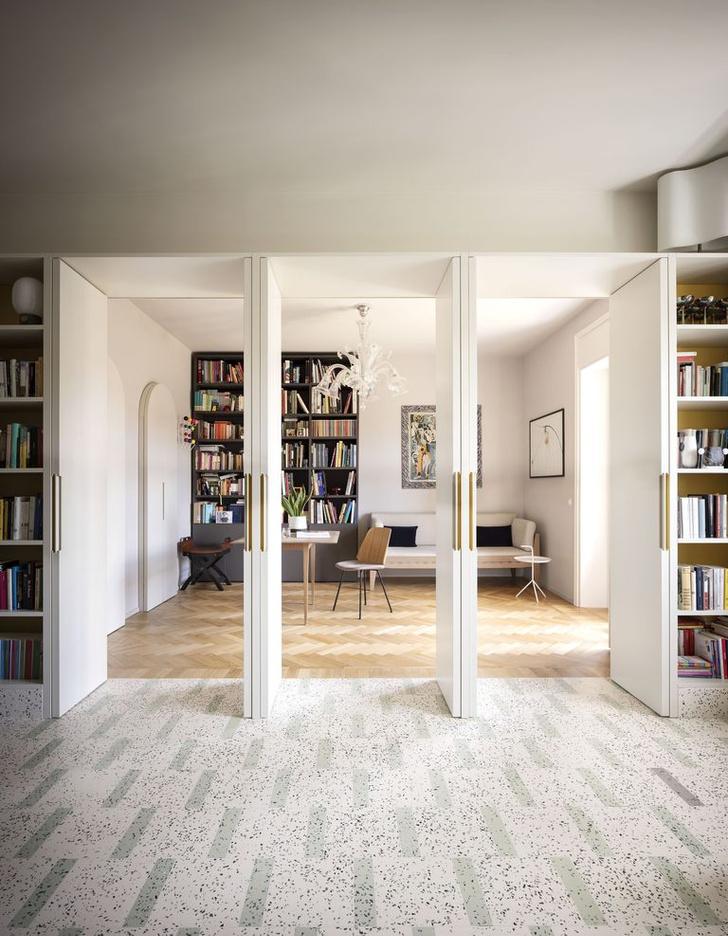 Фото №6 - Квартира с домашней библиотекой в Милане