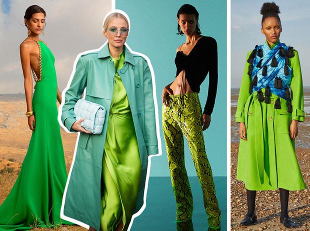 Фото №1 - Как носить ярко-зеленый цвет— самый модный в этом сезоне