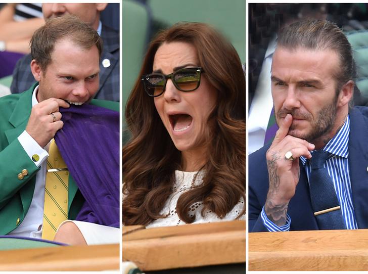 Фото №1 - И смех, и слезы: звезды на трибунах Уимблдона глазами фотографов