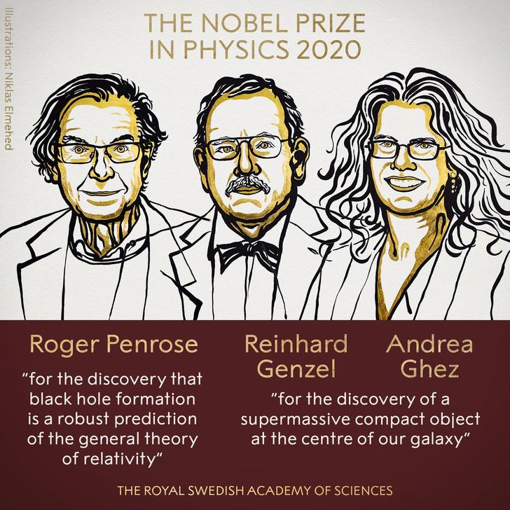 Фото №1 - Нобелевская премия по физике присуждена за исследование черных дыр