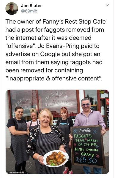 Фото №1 - Google перепутал название блюда с ругательством и забанил рекламу семейного кафе